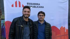 Albert Martín i Jordi Giró, números 2 i 1, respectivament, de la candidatura de Som-hi la Riera.