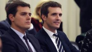 Albert Rivera y Pablo Casado podrían conseguir mayoría absoluto junto al partido de Santiago Abascal