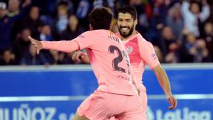 Aleñá i Suárez, autors dels dos gols a Mendizorrotza