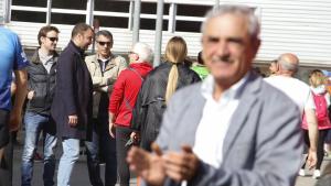 Alfredo Vega i Jordi Ballart, distanciats i sense mirar-se
