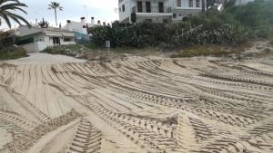 Aquests dies s'estan practicant treballs de preparació a la platja d'Altafulla per tal d'adequar-la a la temporada de Setmana Santa.