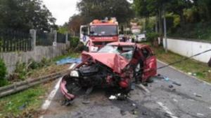 Así quedó el vehículo accidentado tras el siniestro