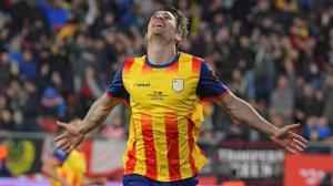 Bojan Krkic celebra el seu gol durant el Catalunya-Veneçuela.