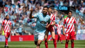 Boudebouz celebra el gol de la victòria contra el Girona
