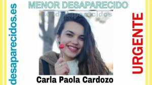 Carla Paola Cardozo, desaparecida desde el pasado 16 de abril en Lominchar, Toledo