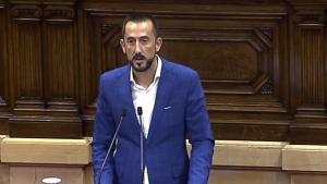 Carlos Sánchez en una imatge d'arxiu d'una intervenció al Parlament de Catalunya
