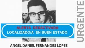 Cartel de búsqueda del joven desaparecido en Baiona