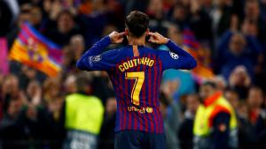 Coutinho celebra el seu gol contra el Manchester United.