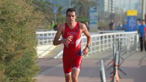 Dani Ratera, en l'Aquatló de Barcelona