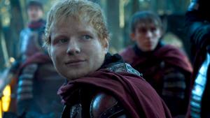 Ed Sheeran en una escena de Juego de Tronos.
