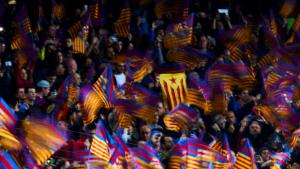 El Camp Nou, durant el Barça-Manchester United de quarts de la Champions.