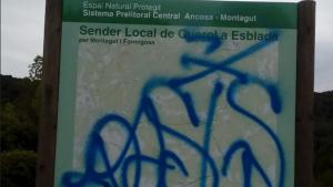 El cartell d'aquest sender local ha quedat així.