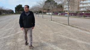 El conseller d'Espais Públics de l'Ajuntament de Tarragona, José Luís Martín, a l'aparcament de la Savinosa