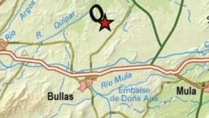 El epicentro del seísmo se ha situado al noreste de Bullas