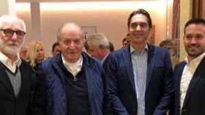 El rey Juan Carlos viajó hasta Sanxenxo para disfrutar de las regatas