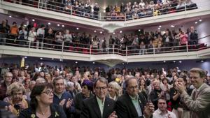 El teatre Metropol s'ha omplert en el punt final a la campanya de JxCat a Tarragona.