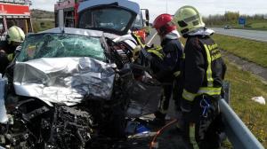 El vehículo accidentado en Álava ha quedado en este estado