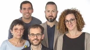 Els cincs primers membres de la llista d'ERC Alcover per les eleccions municipals.