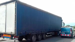 Els Mossos d'Esquadra han detingut el camioner a l'AP-7, a l'altura de Cambrils