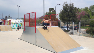 Els nous elements instal·lats a l'skate park de Reus amb els usuaris