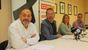 Els representants sindicals de CCOO han mostrat la seva indignació en conèixer les dades del darrer any