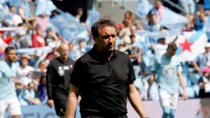 Eusebio Sacristán, al final del partit contra el Celta de Vigo del cap de setmana passat.