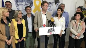 Ferran Bel ha valorat els resultats a la seu de Junts per Catalunya a Tarragona.