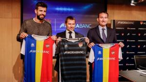 Gerard Piqué ha presentat el nou patrocinador principal del FC Andorra