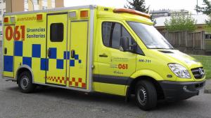 Imagen de archivo de un vehículo de Urxencias Sanitarias de Galicia