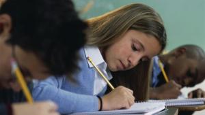Imagen de archivo de una estudiante