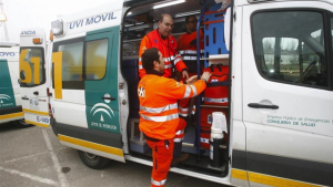 Imagen de archivo de una unidad de la Empresa Pública de Emergencias Sevilla (EPES)