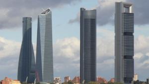 Imagen de las cuatro torres de Madrid, hoy una ha tenido que ser desalojada