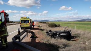 Imagen del accidente de Ferreruela de Huerva