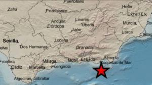 Imagen del epicentro del terremoto