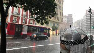 Imatge d'arxiu de pluja a València