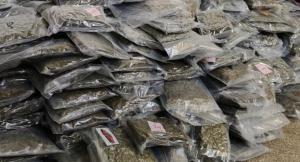 Imatge de diversos paquets de marihuana intervinguts per la Guàrdia Civil