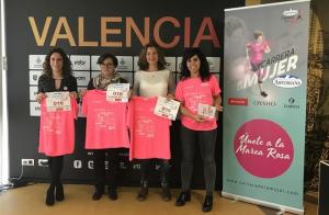 Imatge de la presentació de la carrera de la Dona de València 2019