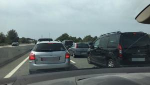 Imatge de la retenció, a l'autopista AP-7