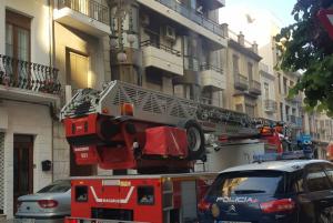 Imatge de l'edifici afectat per l'incendi