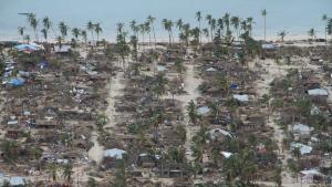 Imatge de les devastadores conseqüències del cicló Kenneth a Moçambic