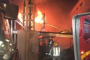 Imatge de l'incendi a la granja de Redován