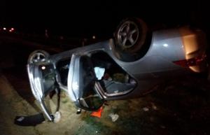 Imatge del cotxe accidentat a l'A-3 a Buñol