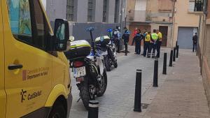 Imatge del moment de la detenció, al carrer de Sant Serapi de Reus