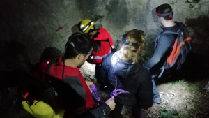 Imatge del rescat, a la zona de la Cova Pintada, al Parc Natural dels Ports