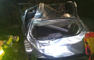 Imatge del vehicle accidentat