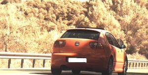 Imatge del vehicle enxampat circulant amb excés de velocitat per l'N-240.