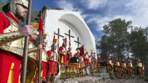 Imatge del Viacrucis al Calvari d'Alcover.