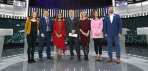 Irene Montero, Aitor Esteban, María Jesús Montero, Cayetana Álvarez de Toldo, Inés Arrimadas i Gabriel Rufián, al debat a sis de TVE
