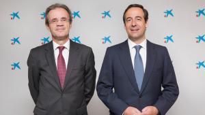 Jordi Gual, president de Caixabank, i Gonzalo Gortázar, conseller delegat de Caixabank