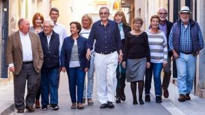 Josep Maria Santamaria, amb la resta de la llista de Centrats amb la qual es presenta a les eleccions municipals.
